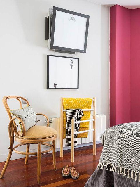Room, Wood, Textile, Interior design, Wall, Furniture, Chair, Grey, Linens, Hardwood,