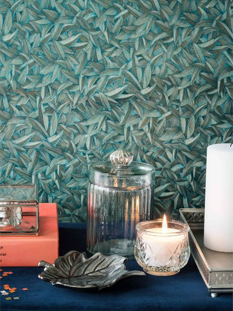 Lighting, Teal, Candle, Interior design, Wax, Home accessories, Turquoise, Candle holder, Aqua, Still life photography,