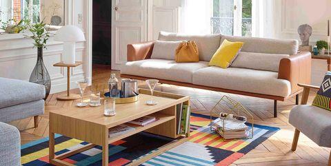 Salón: sofá colores neutros