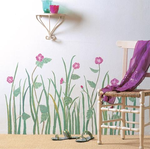 Pink, Magenta, Purple, Lavender, Violet, Plant stem, Paint, Outdoor furniture, Flowering plant, Armrest,