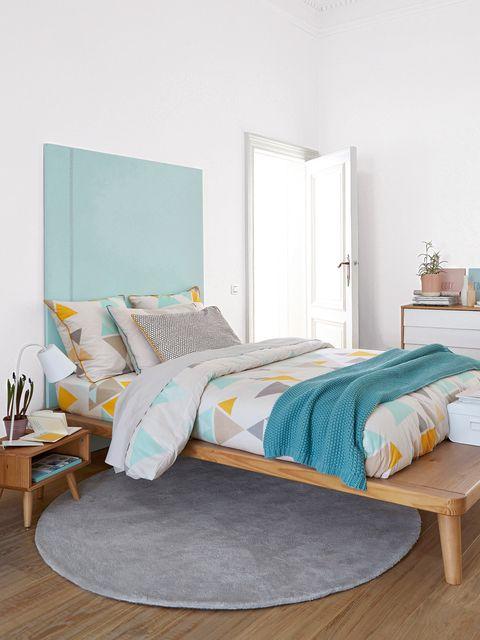 Wood, Room, Interior design, Floor, Furniture, Textile, Bed, Flooring, Wall, Hardwood,