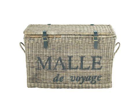 Basket, Wicker, Storage basket, Home accessories, Rectangle, Laundry basket, Beige, Picnic basket,