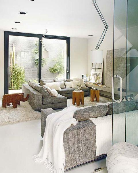 Interior design, Room, Property, Floor, Wall, Textile, Linens, Bed, Home, Interior design,