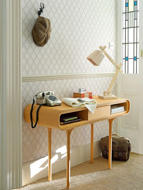 Furniture, Desk, Table, Room, Shelf, Writing desk, Interior design, Dresser, Computer desk, Changing table,