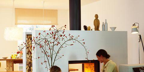 Human, Lighting, Room, Interior design, Table, Interior design, Home, Lamp, Heat, Living room,