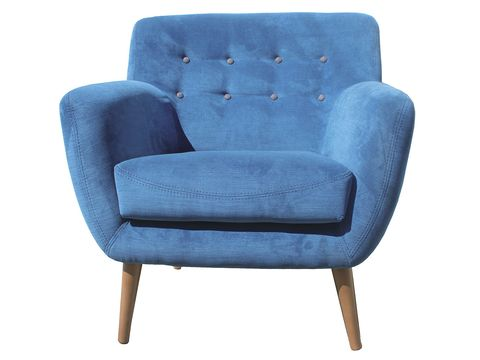 Blue, Furniture, Chair, Comfort, Azure, Black, Electric blue, Armrest, Club chair, Plastic,