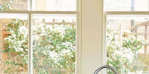 Room, Plumbing fixture, Property, Interior design, Tap, Interior design, Wall, Sink, Glass, Fixture,