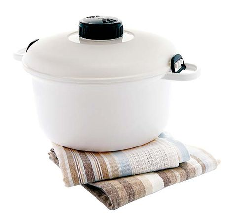 Product, Beige, Lid, Cookware and bakeware, Linens, Cylinder, Silver, Plastic, Kitchen appliance accessory, Home appliance,