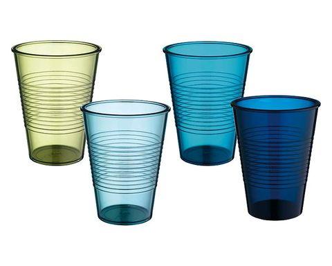 Blue, Aqua, Teal, Turquoise, Line, Electric blue, Azure, Plastic, Cobalt blue, Drinkware,