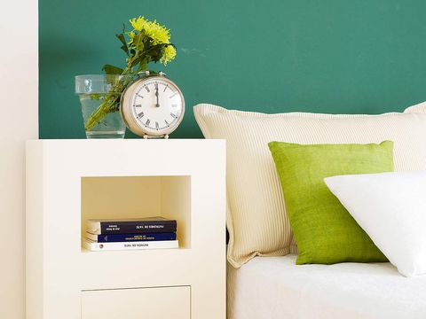 Pillow, Green, Cushion, Throw pillow, Yellow, Room, Furniture, Home accessories, Bedding, Wall,