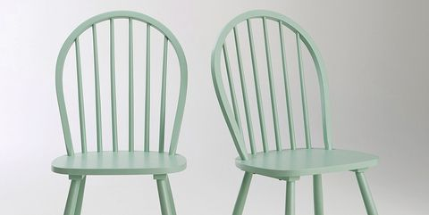 Chair, Furniture, Green, Windsor chair, Plastic, Table, Outdoor furniture,