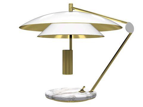 Lamp, Light fixture, Lighting, Lampshade, Table, Light, Lighting accessory, Furniture, Brass, Shade,