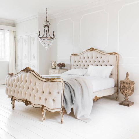 Bed, Furniture, Bedroom, White, Room, Bed frame, Product, Bed sheet, Bedding, Interior design,