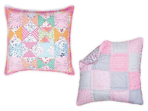 Product, Textile, Throw pillow, Cushion, Purple, Pillow, Pink, Pattern, Linens, Home accessories,