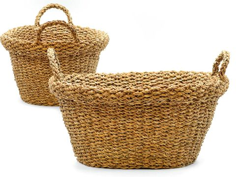 Basket, Storage basket, Wicker, Home accessories, Hamper,