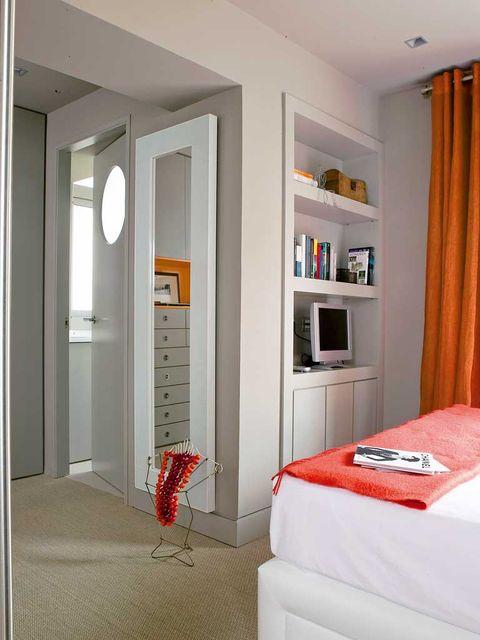 Room, Interior design, Textile, Floor, Wall, Orange, Linens, Ceiling, Interior design, Fixture,