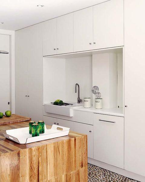 Room, Property, Floor, Wall, Countertop, Plumbing fixture, Flooring, Ceiling, Kitchen, Cabinetry,