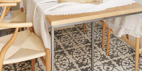 Furniture, Room, Table, Desk, Interior design, Floor, Kitchen, Shelf, Coffee table, Chair,