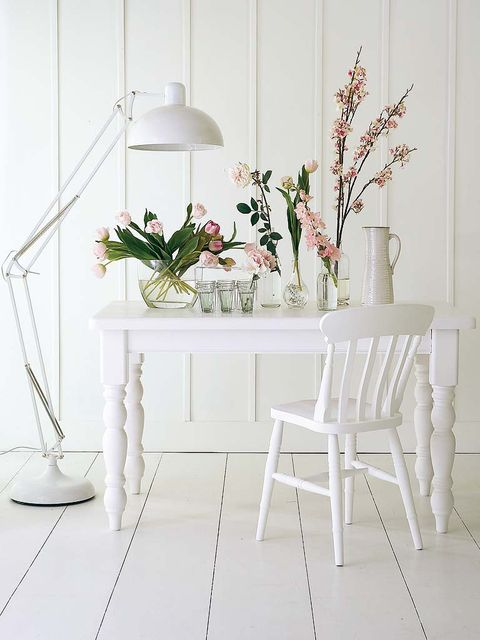 Room, White, Interior design, Floor, Grey, Twig, Home accessories, Lamp, Home, Peach,