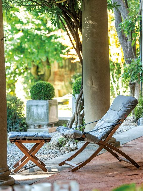 Outdoor furniture, Chair, Furniture, Tree, Chaise longue, Botany, Footwear, Leaf, Leisure, House,