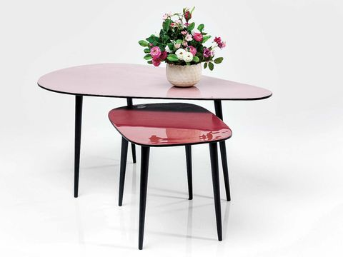 Furniture, Table, Coffee table, Outdoor table, End table, Room, Material property, Chair, Oval, Plant,