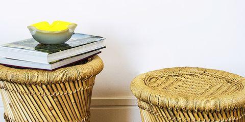 Wicker, Table, Coffee table, Furniture, Metal,