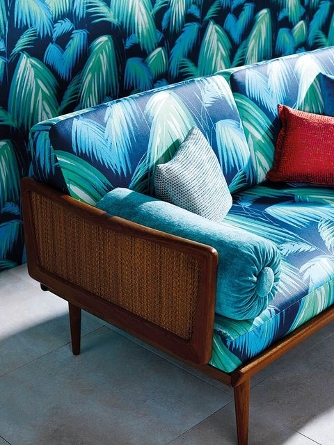 Blue, Green, Textile, Furniture, Teal, Turquoise, Aqua, Couch, Azure, Outdoor furniture,