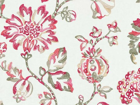 Textile, Pattern, Pink, Magenta, Botany, Art, Motif, Creative arts, Visual arts, Wallpaper,