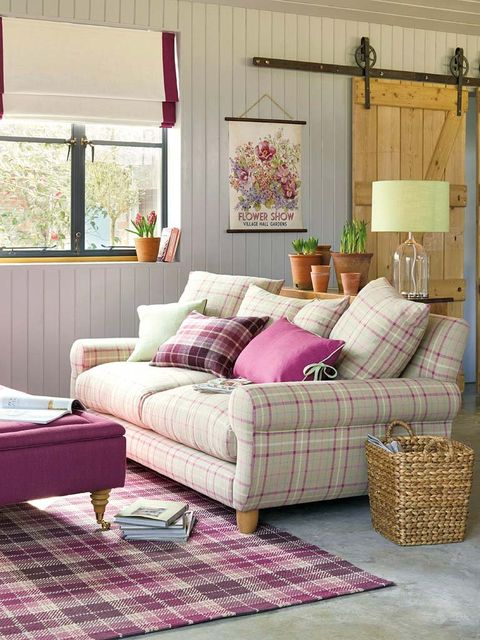 Interior design, Room, Textile, Home, Purple, Living room, Pink, Furniture, Couch, Interior design,