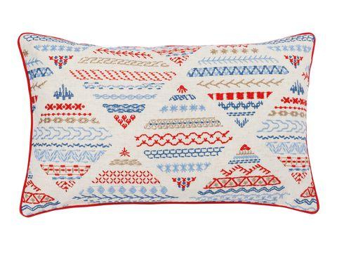 Throw pillow, Pillow, Cushion, Furniture, Textile, Pattern, Font, Linens, Home accessories, Design,