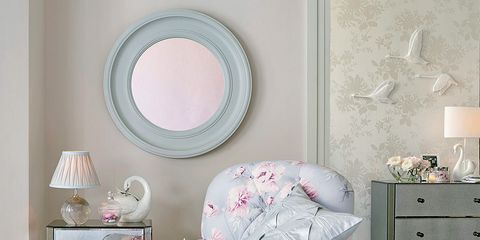 Room, Interior design, Floor, Wall, Drawer, Furniture, Chest of drawers, Pink, Home, Flooring,