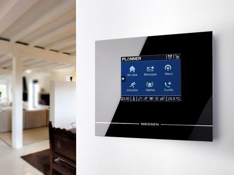 Product, Display device, Interior design, Floor, Ceiling, Wall, Flooring, Fixture, Space, Multimedia,