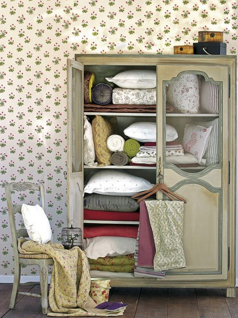 Furniture, Shelf, Room, Wall, Interior design, Shelving, Wallpaper, Cupboard, Hutch, Textile,