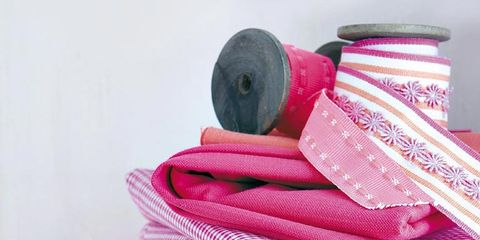 Textile, Pink, Pattern, Household supply, Paper, Thread, Craft, Embellishment, Pattern, Ribbon,
