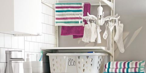 Product, White, Room, Clothes hanger, Turquoise, Teal, Aqua, Laundry room, Grey, Major appliance,