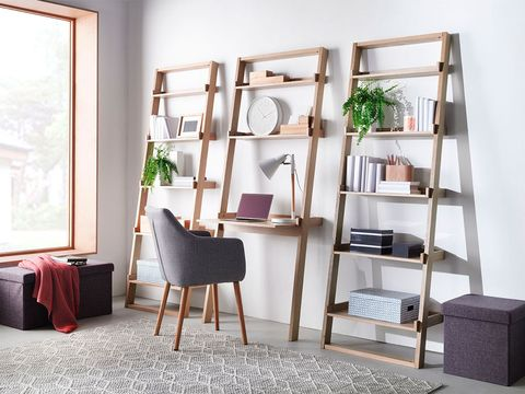 Shelf, Furniture, Room, Shelving, Interior design, Table, Building, Living room, Floor, Chair,
