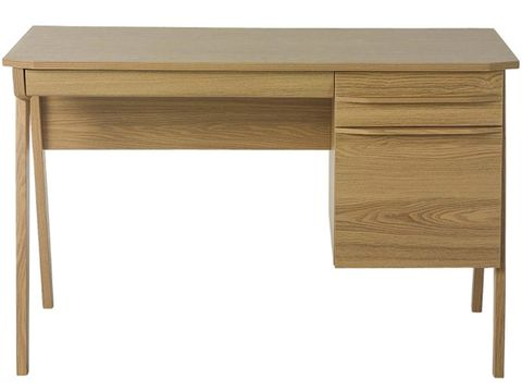 Furniture, Desk, Table, Writing desk, Wood stain, Computer desk, Drawer, Rectangle, Material property, Wood,