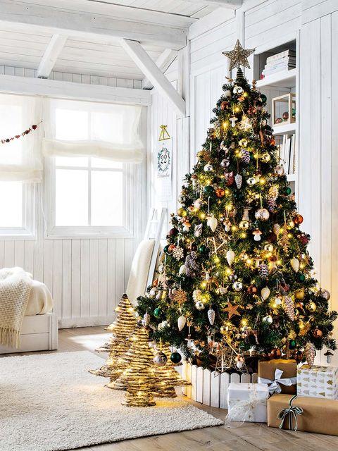 Un rbol seis estilos - Arboles de navidad elegantes ...