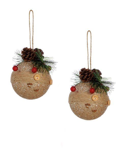 Interior design, Ornament, Christmas ornament, Beige, Circle, Creative arts, Christmas decoration, Craft, Christmas, Holiday ornament,