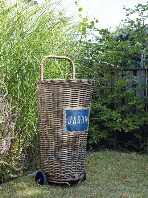 Shrub, Waste container, Garden, Yard, Basket, Cylinder, Storage basket,