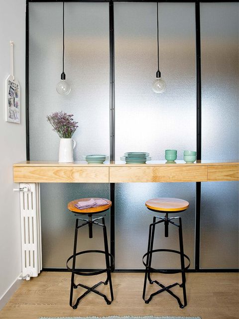 Room, Interior design, Table, Furniture, Floor, Glass, Stool, Flowerpot, Fixture, Interior design,