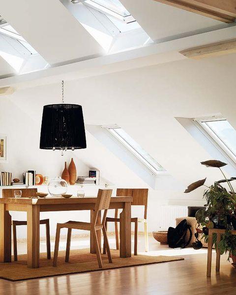 Wood, Room, Interior design, Floor, Flooring, Ceiling fixture, Ceiling, Table, Light fixture, Furniture,