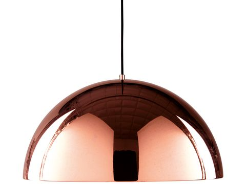 Light fixture, Lighting, Ceiling, Ceiling fixture, Lamp, Copper, Dome, Metal, Material property, Architecture,