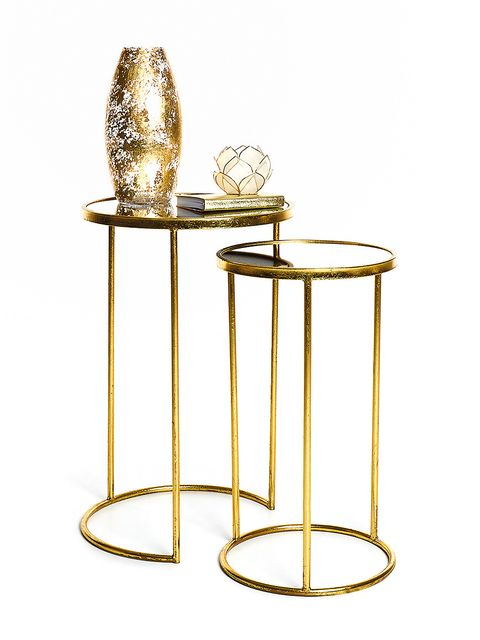 Furniture, Table, Brass, End table, Metal, Bar stool,