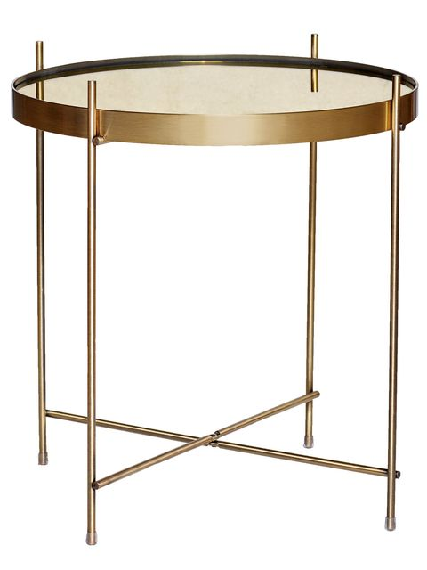 Table, Furniture, End table, Brass, Coffee table, Metal, Sofa tables,