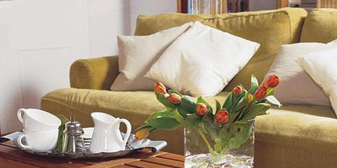 Room, Serveware, Furniture, Table, Flower, Dishware, Linens, Interior design, Petal, Porcelain,