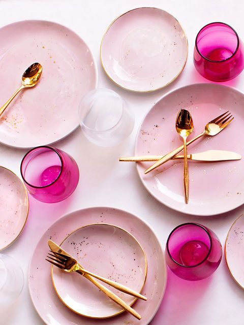 Pink, Plate, Dishware, Tableware, Food, Magenta,