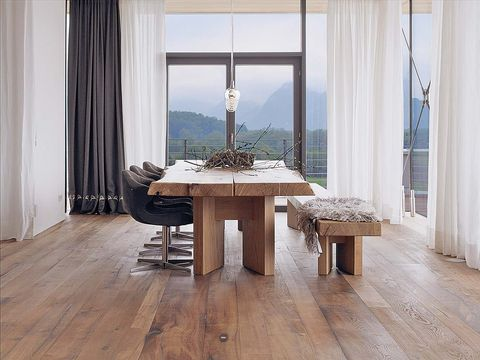 Wood, Floor, Flooring, Interior design, Hardwood, Room, Architecture, Wood flooring, Table, Furniture,