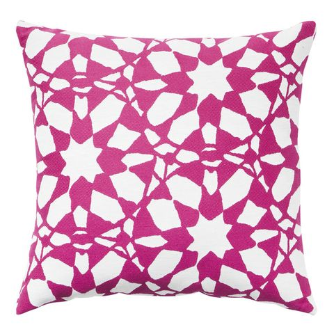 Throw pillow, Cushion, Pillow, Textile, Pattern, Pink, Linens, Home accessories, Rectangle, Undergarment,