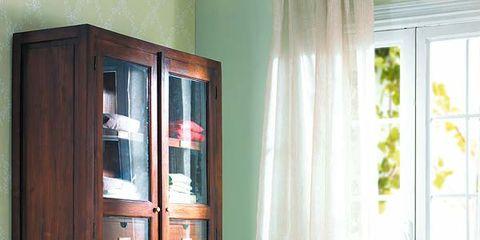 Room, Interior design, Textile, Bed, Linens, Hardwood, Window covering, Window treatment, Bedding, Fixture,